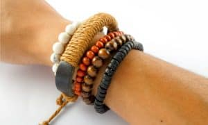how to make leather bracelets with beads