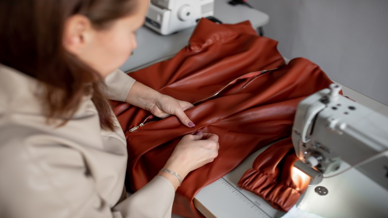 how to sew two pieces of leather together